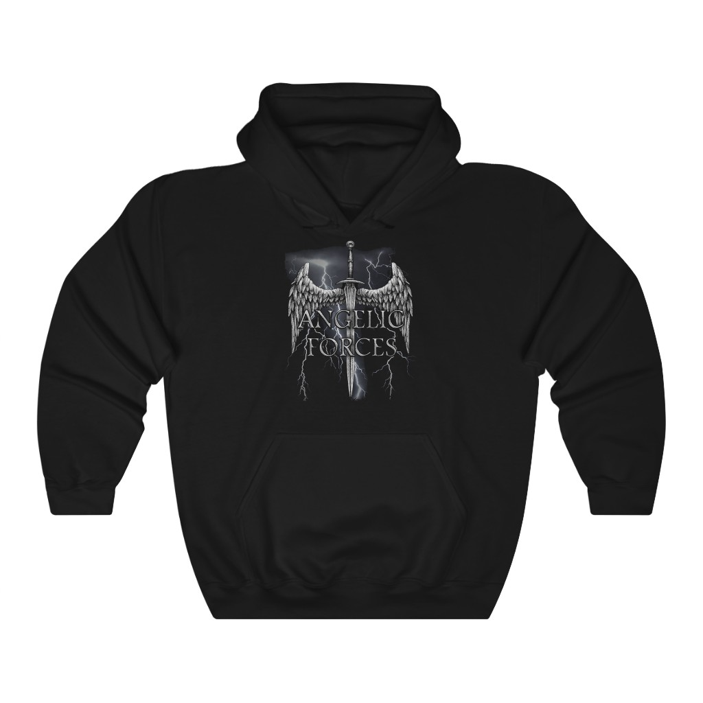 Angelic Forces Lightning Pullover Hooded Sweatshirt